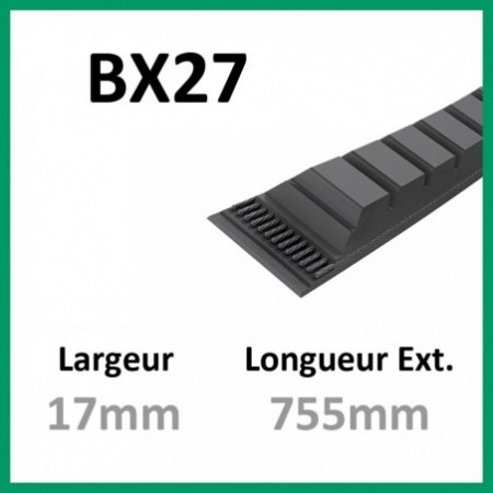 Courroie BX27 - Continental - 1-courroie-tondesue.com