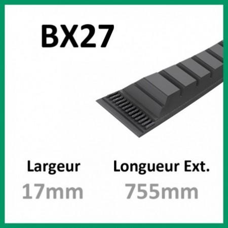 Courroie BX27 - Teknic - 1-courroie-tondesue.com