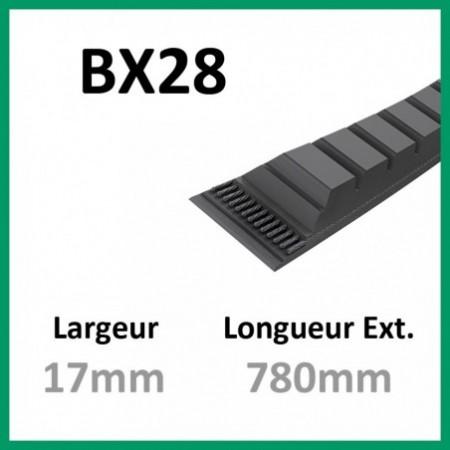 Courroie BX28 - Teknic - 1-courroie-tondesue.com