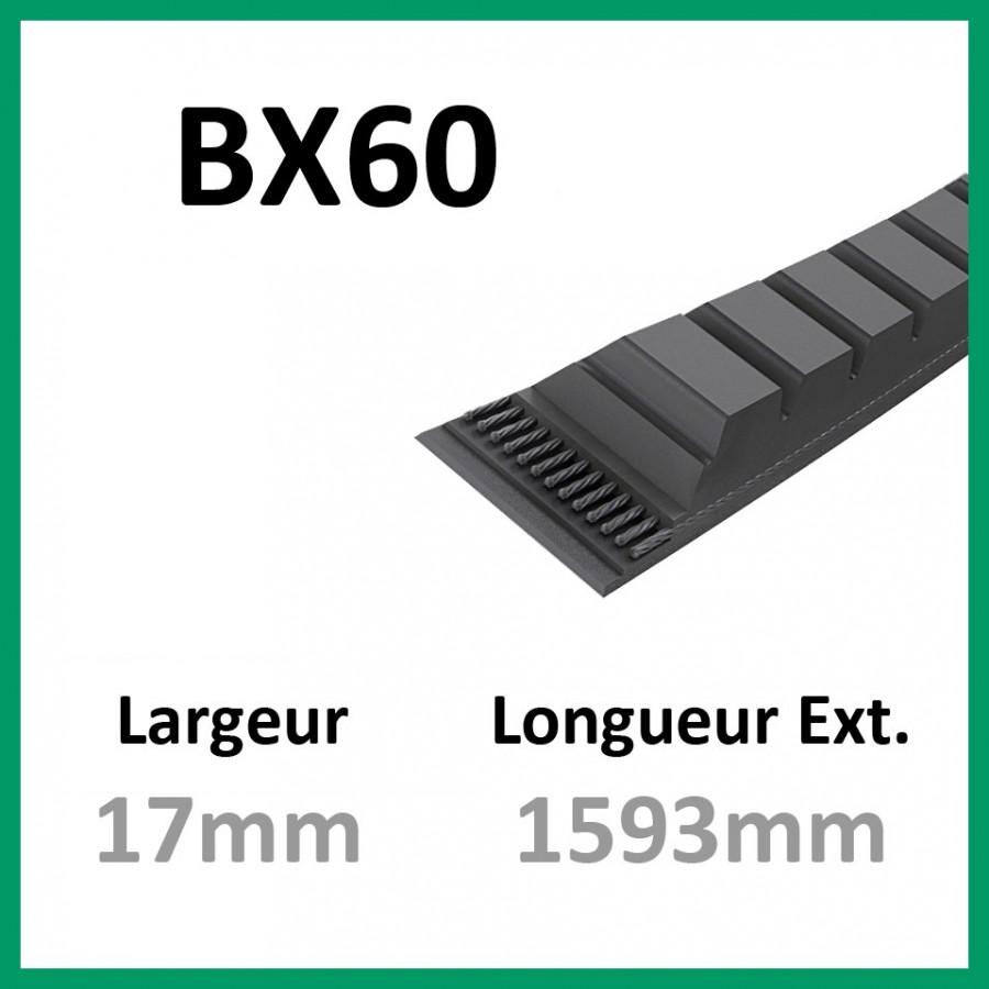 Courroie BX60 - Teknic - 1-courroie-tondesue.com