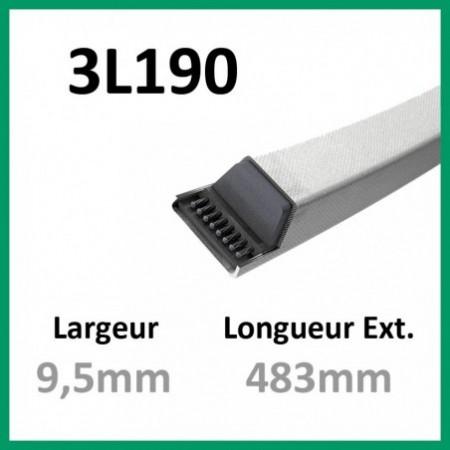 Courroie 3L190 - Teknic - 1-courroie-tondesue.com