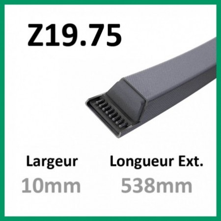 Courroie Z19.75 - Continental - 1-courroie-tondesue.com