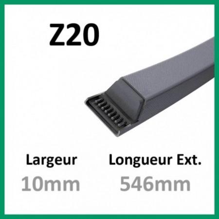 Courroie Z20 - Teknic - 1-courroie-tondesue.com