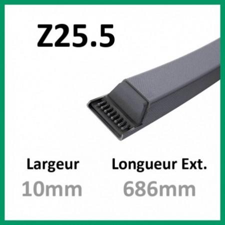 Courroie Z25.5 - Teknic - 1-courroie-tondesue.com