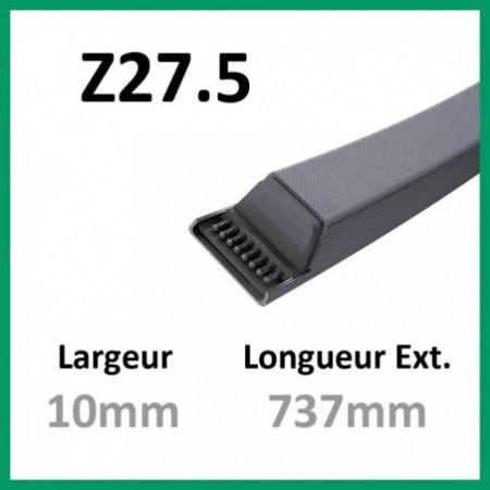 Courroie Z27.5 - Teknic - 1-courroie-tondesue.com