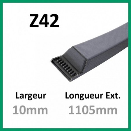 Courroie Z42 - Continental - 1-courroie-tondesue.com