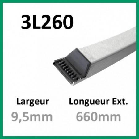 Courroie 3L260 - Teknic - 1-courroie-tondesue.com