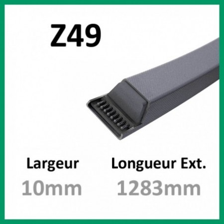Courroie Z49 - Continental - 1-courroie-tondesue.com