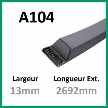 Courroie A104 - Continental - 1-courroie-tondesue.com
