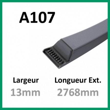 Courroie A107 - Continental - 1-courroie-tondesue.com
