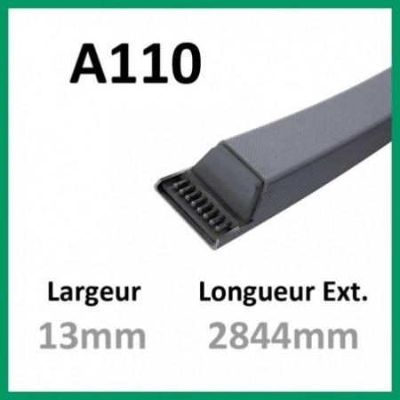 Courroie A110 - Teknic - 1-courroie-tondesue.com