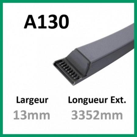 Courroie A130 - Continental - 1-courroie-tondesue.com