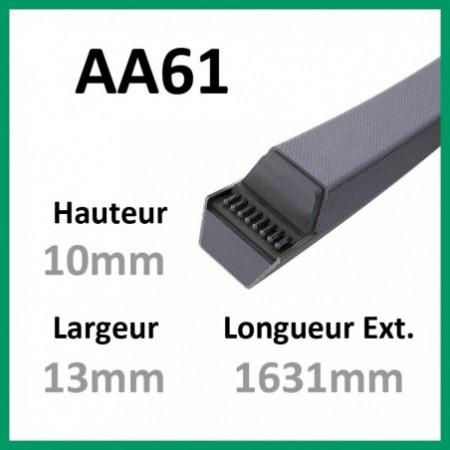 Courroie Hexagonale AA61 - Continental - 1-courroie-tondesue.com