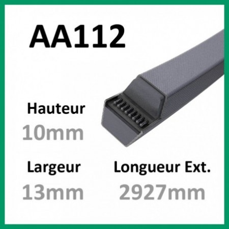 Courroie Hexagonale AA112 - Continental - 1-courroie-tondesue.com