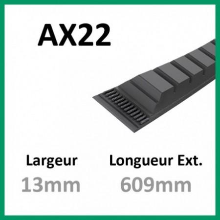 Courroie AX22 - Teknic - 1-courroie-tondesue.com