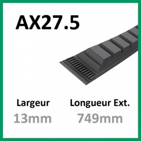 Courroie AX27.5 - Continental - 1-courroie-tondesue.com