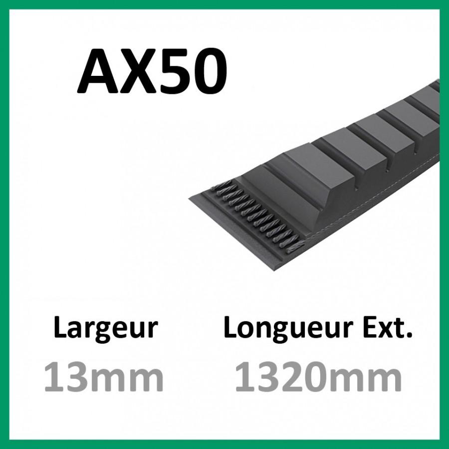 Courroie AX50 - Continental - 1-courroie-tondesue.com